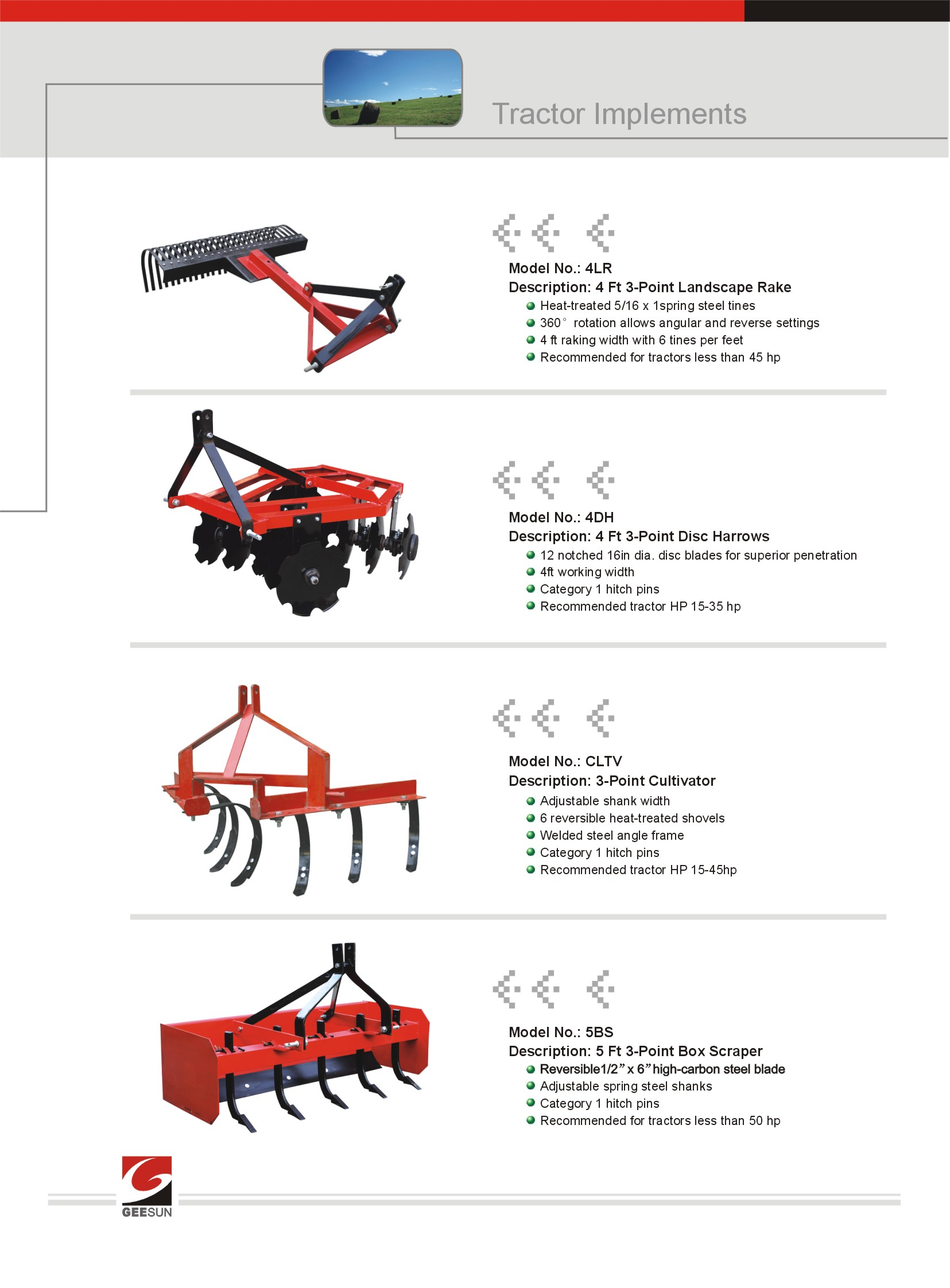 China Best Products - tractor implements